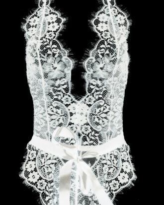 Body koronkowe Miranda białe